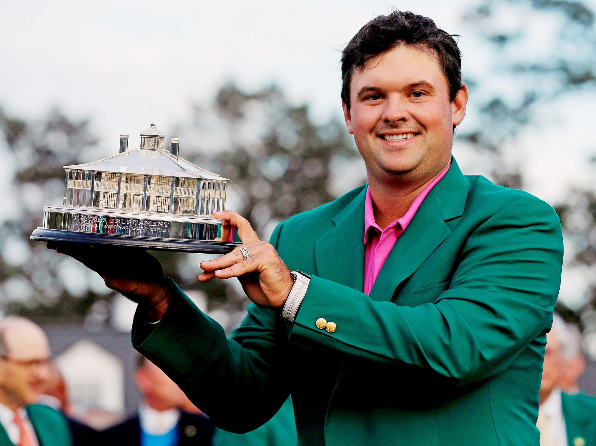 Patrick Reed May Have Won the Masters, But Wife Justine's Lilly Pulitzer Leggings Won the Day patrick-reed-3