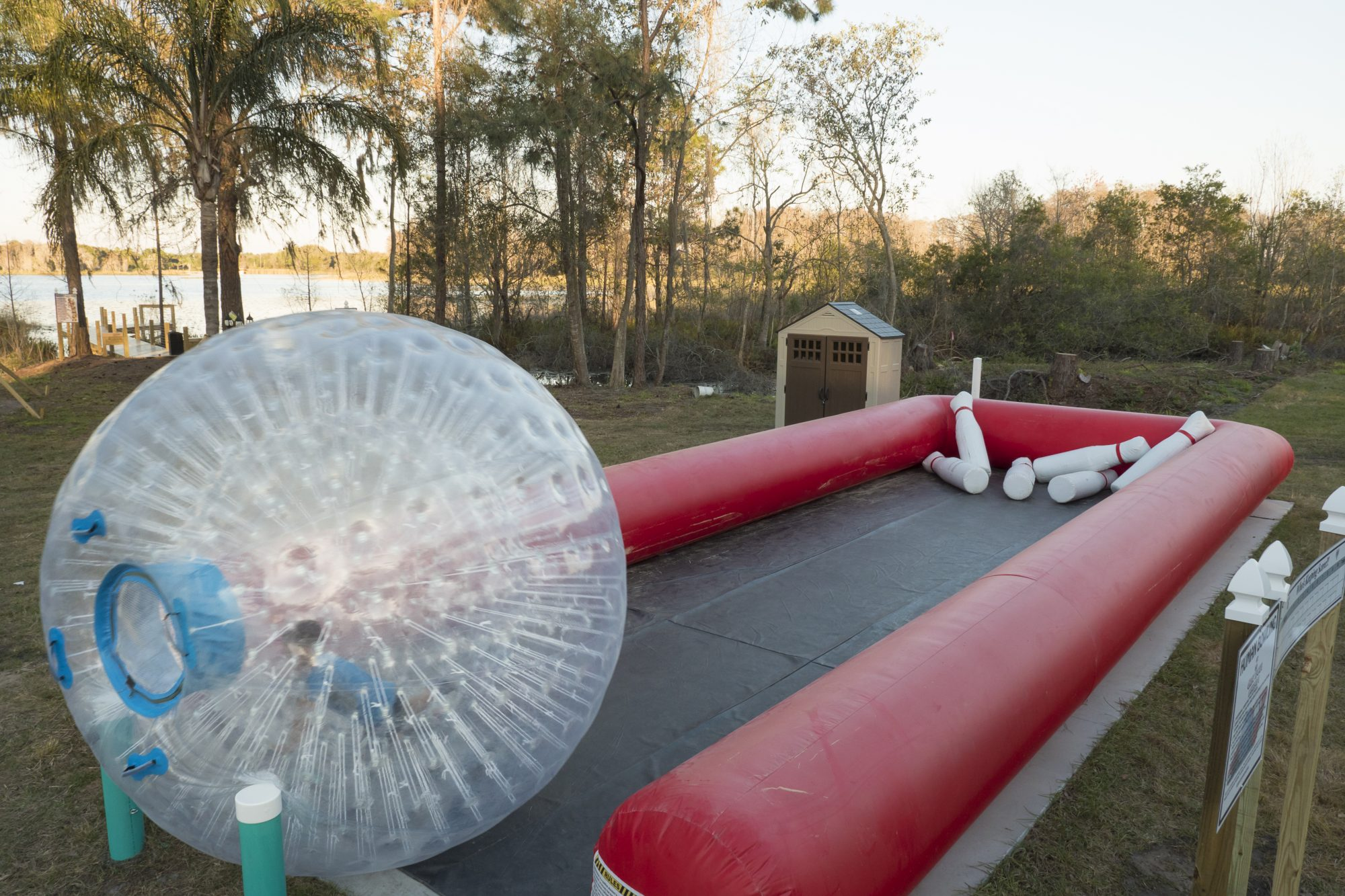 Southern Living Great Escape Lakeside Zorb Bowling