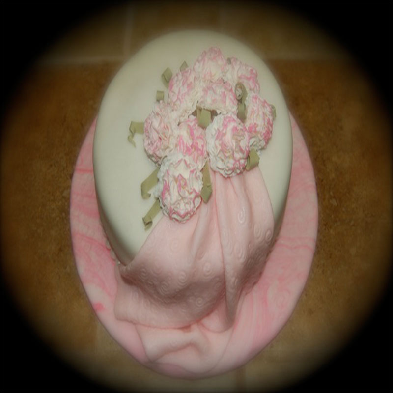 Pink Carnation Derby Hat Cake