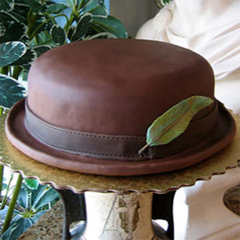 Chocolate-Covered Bowler Cake