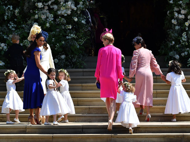 Every Picture of Prince George and Princess Charlotte at Prince Harry and Meghan Markle's Wedding 051919-princess-charlotte-bridesmaids-embed