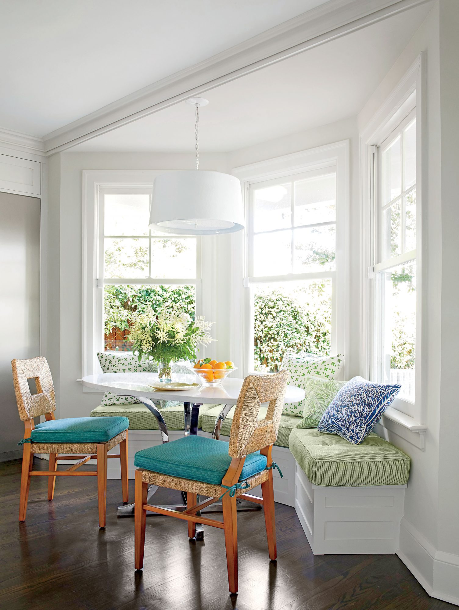 Andrew Howard Colorful Makeover Breakfast Nook