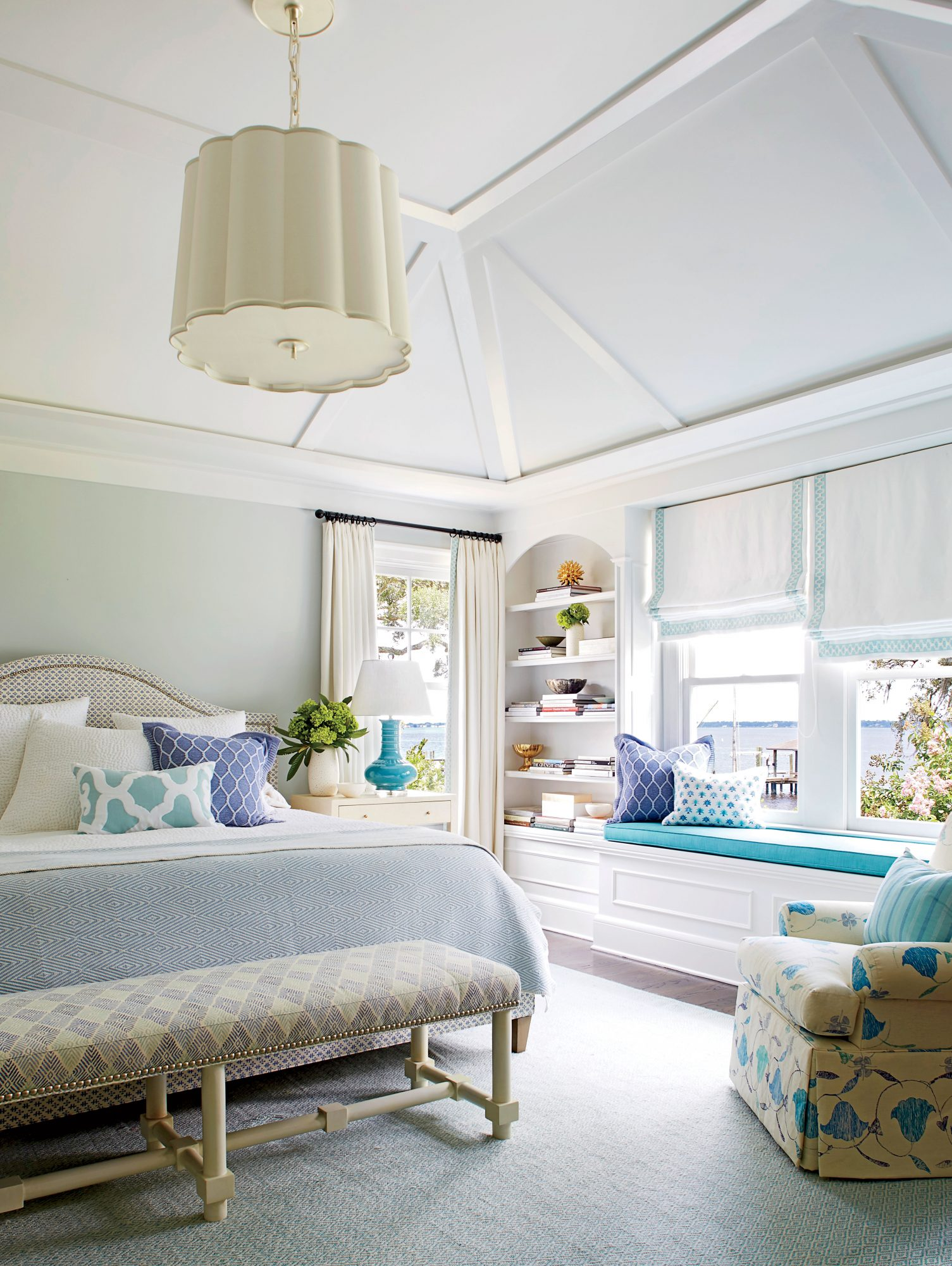 Andrew Howard Colorful Makeover Blue and White Bedroom