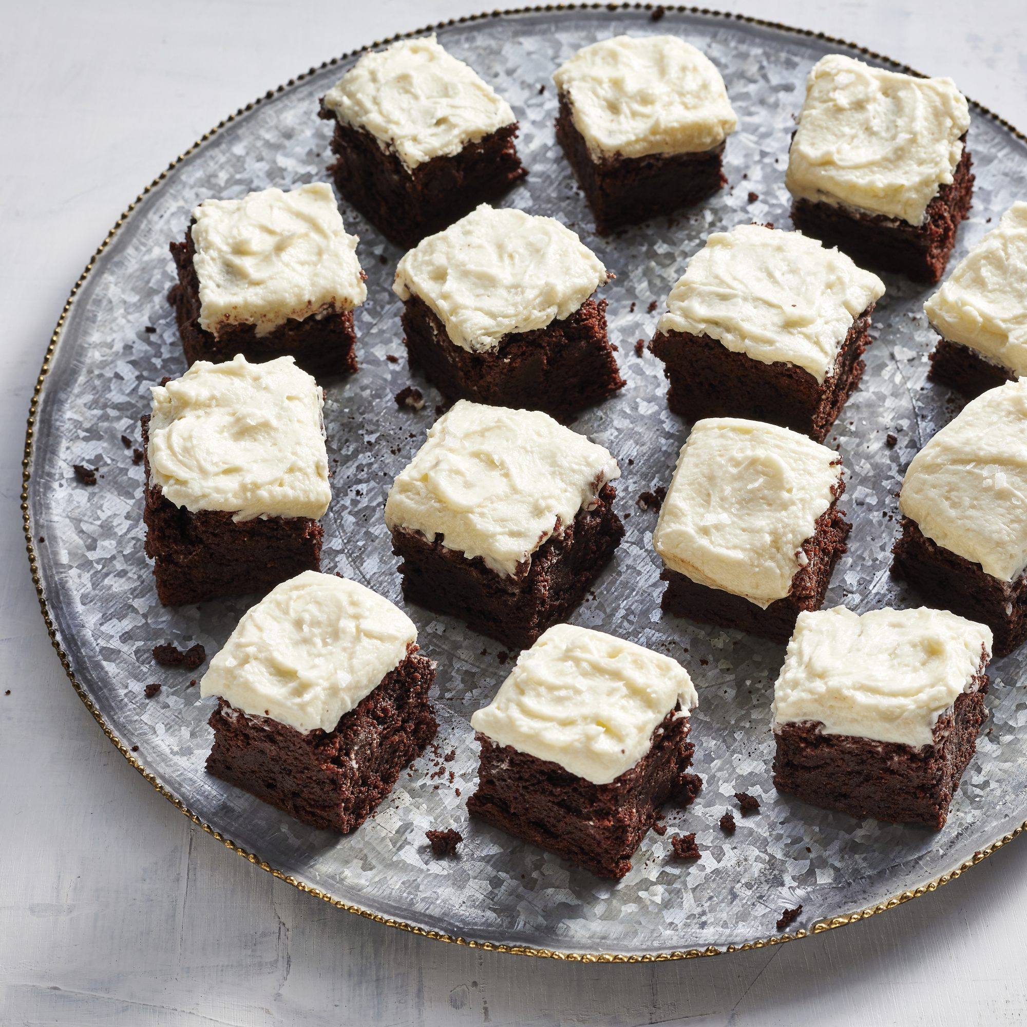 Guinness Brownies with Irish Whiskey Frosting