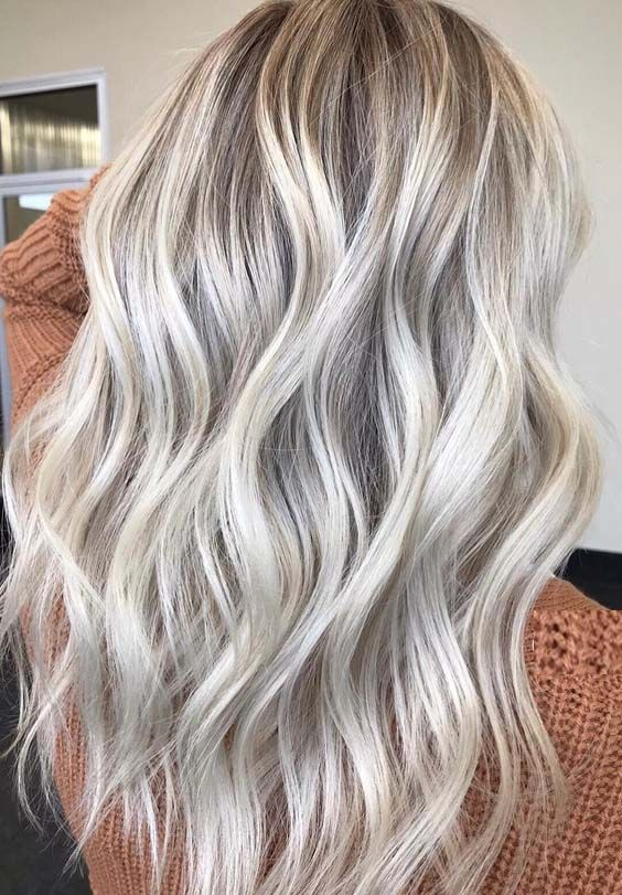 Ash Blonde with Lowlights