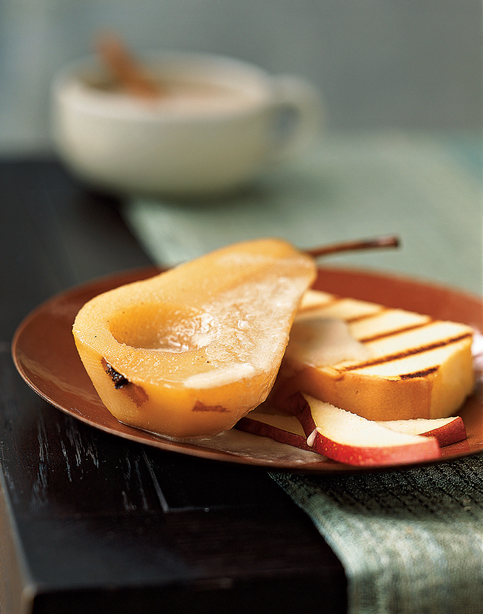 Chai-Spiced Bosc Pear with Pound Cake