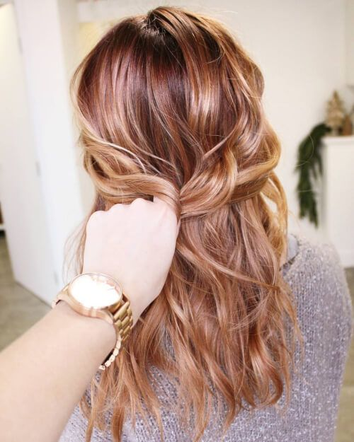 Coppery Rose Gold