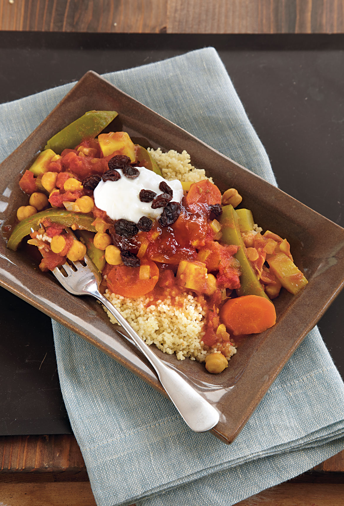 Curried Vegetables on Couscous