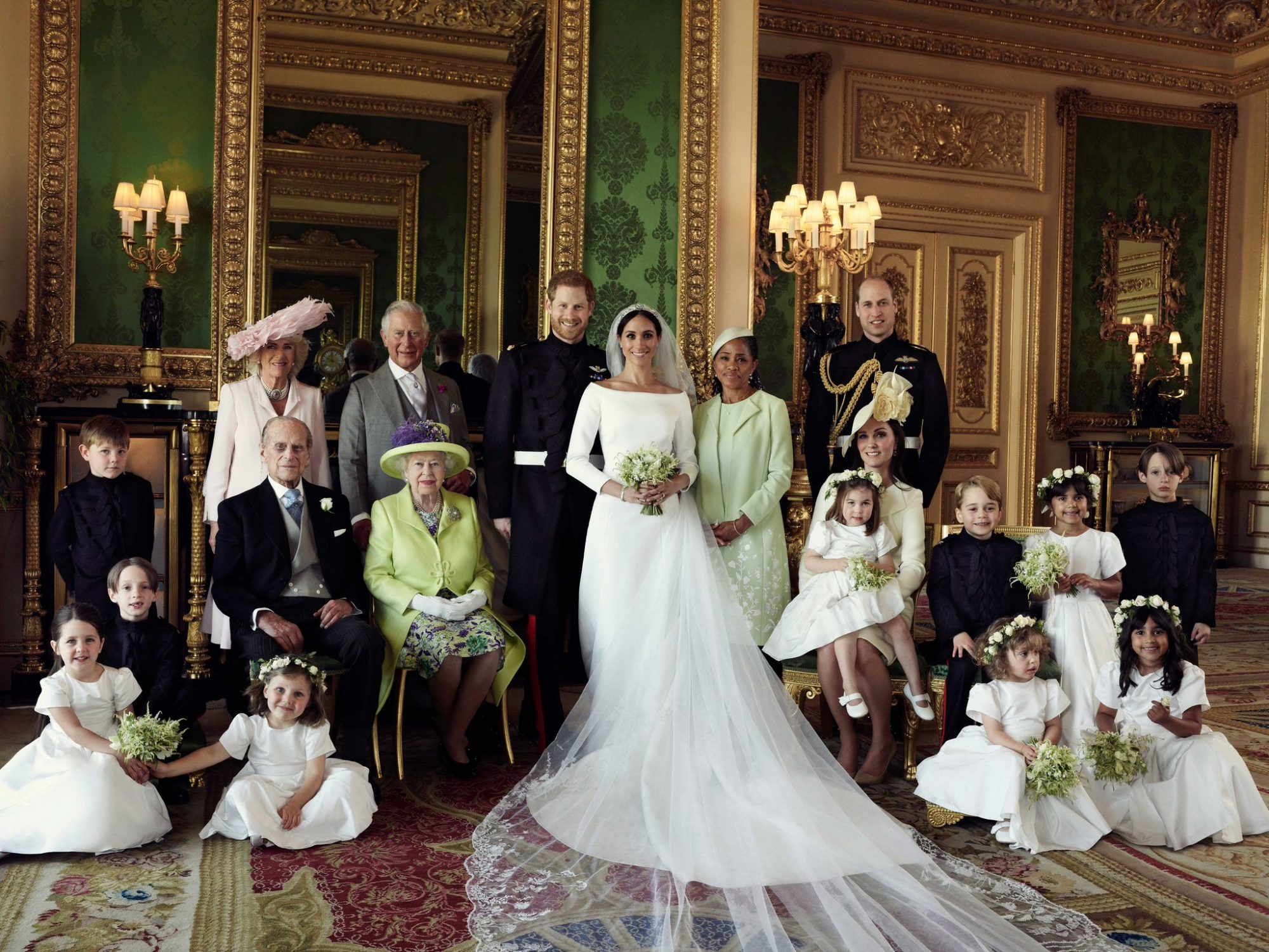 Harry and Meghan Family Wedding Portrait