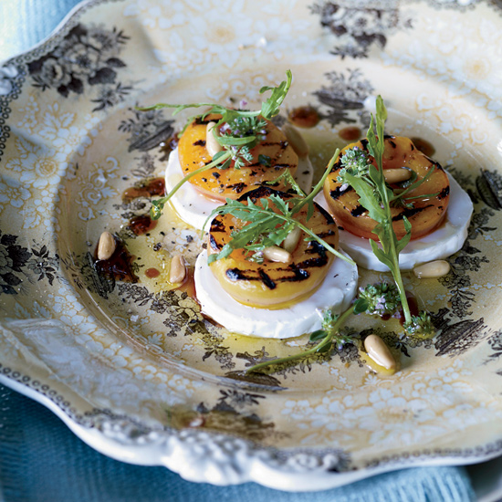 Grilled Apricot, Arugula, and Goat Cheese Salad