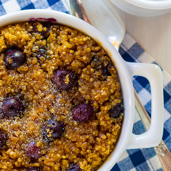 Blueberry Baked Quinoa and Oatmeal