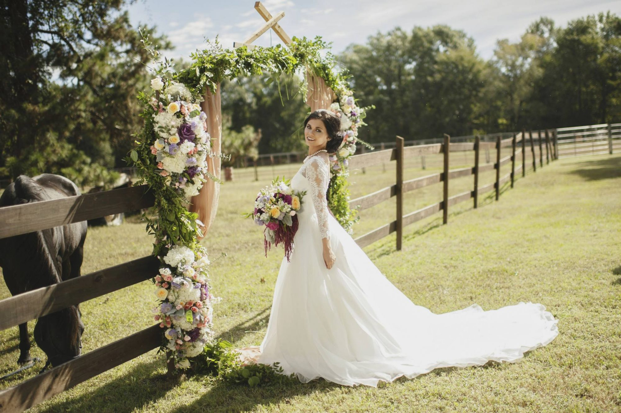 Bride with Sam's Club Flowers