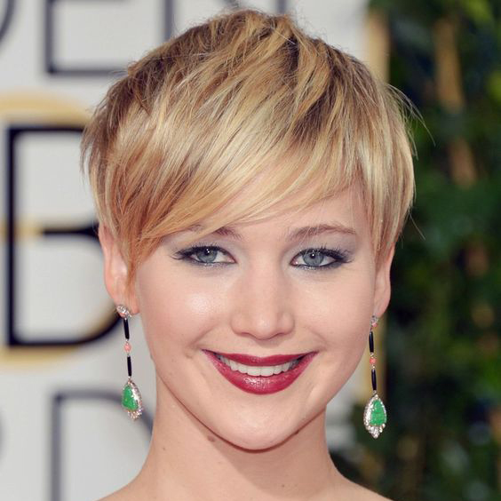 Side-Swept Long Pixie