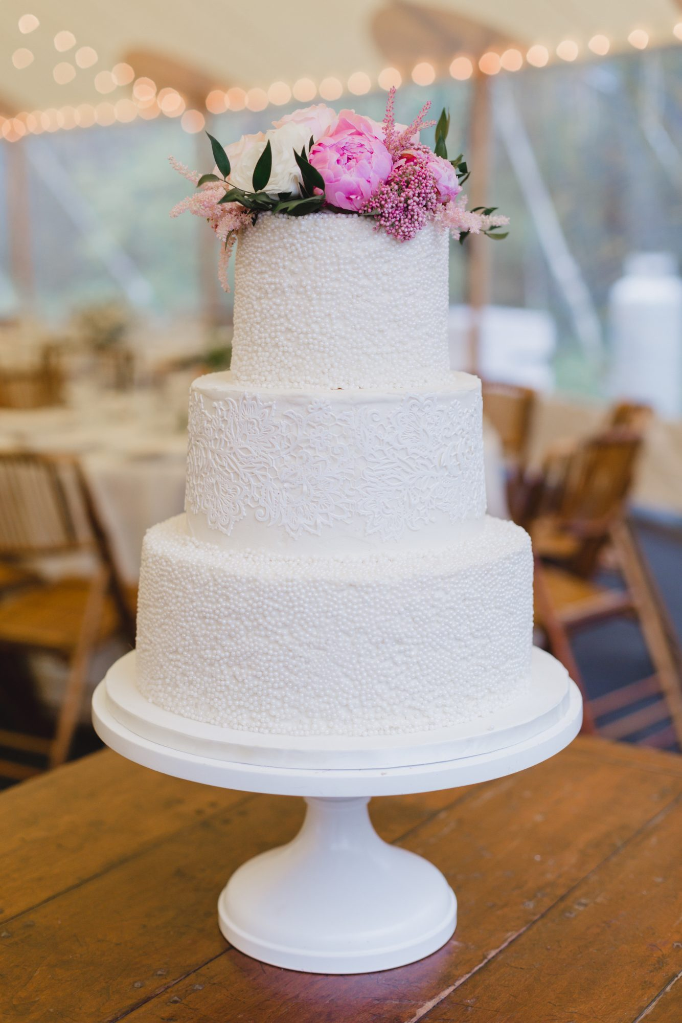 Ornate White Wedding Cake