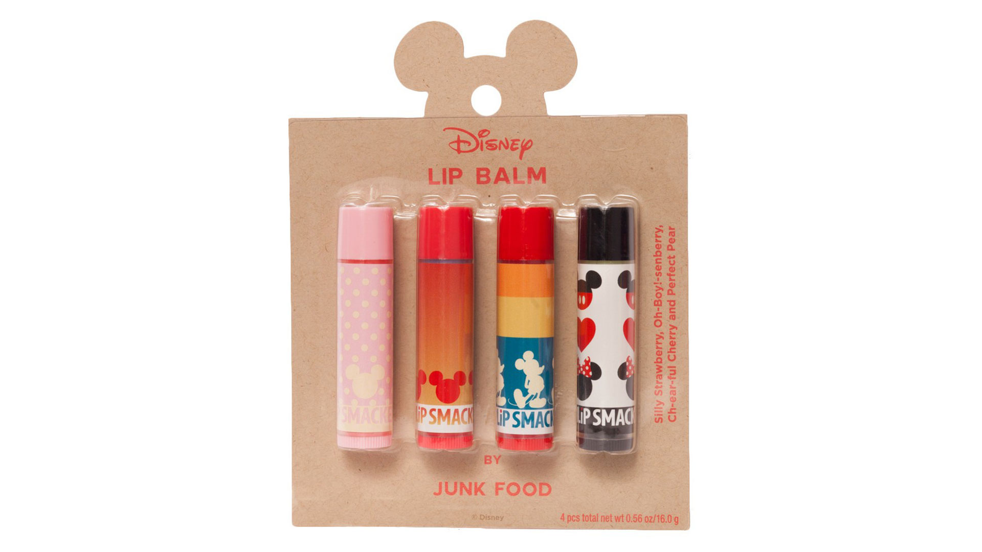 Lip Smacker x Junk Food Mickey 4-Piece Lip Balm Set