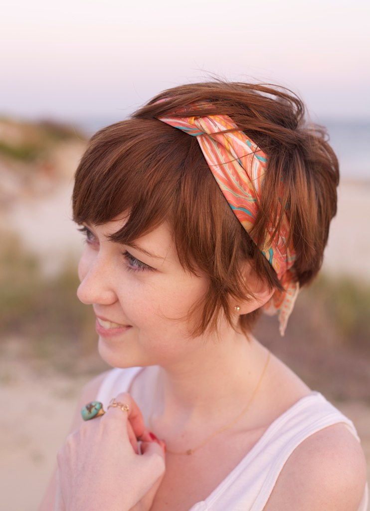 Long Pixie with Headscarf