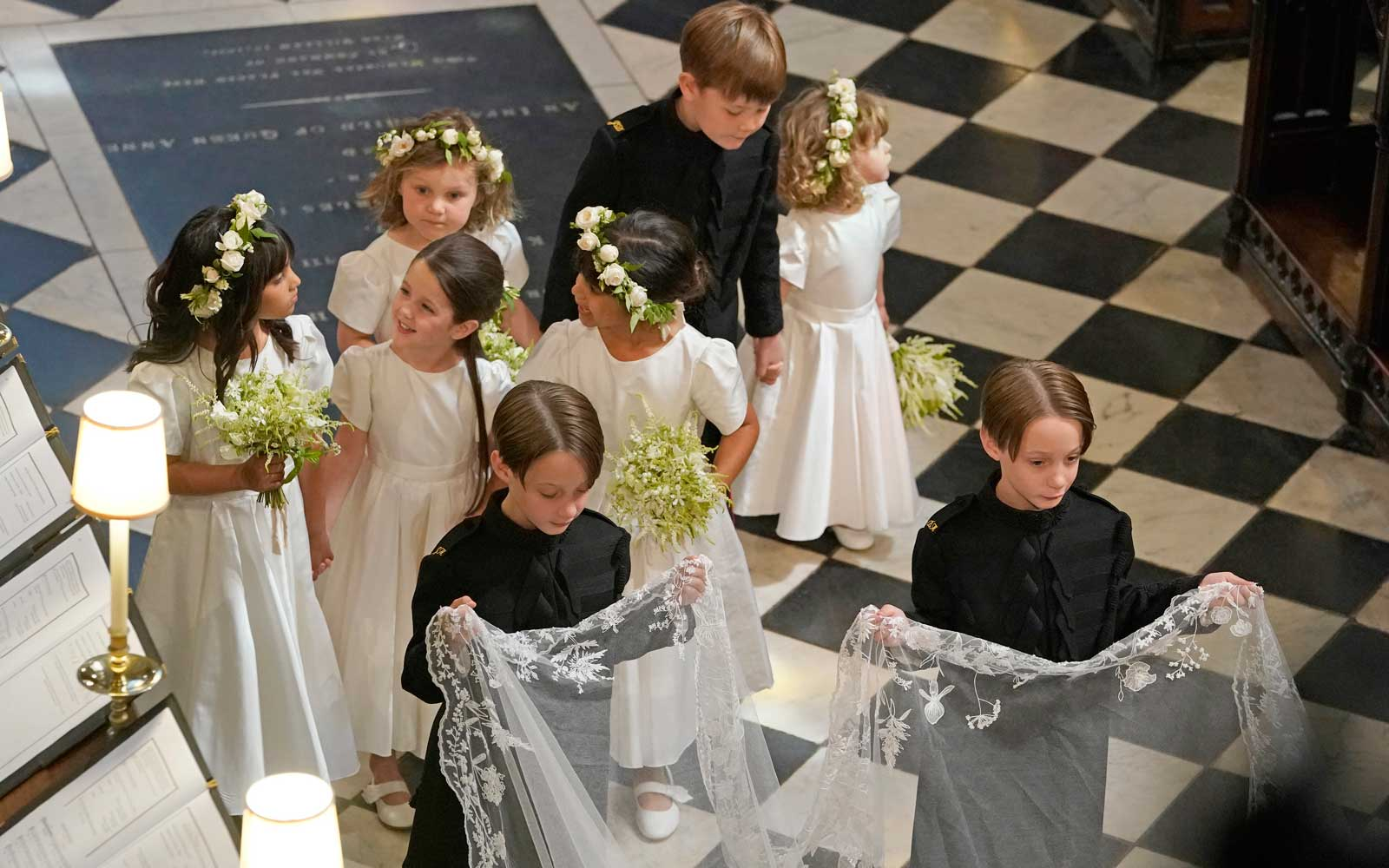 Bridesmaids and Page Boys during the wedding ceremony of Prince Harry  and Meghan Markle in St George's Chapel at Windsor Castle