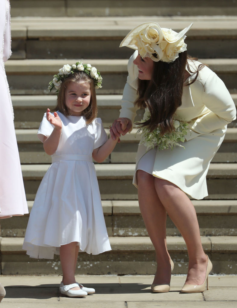 Picture of Princess Charlotte Kate Middleton Wave