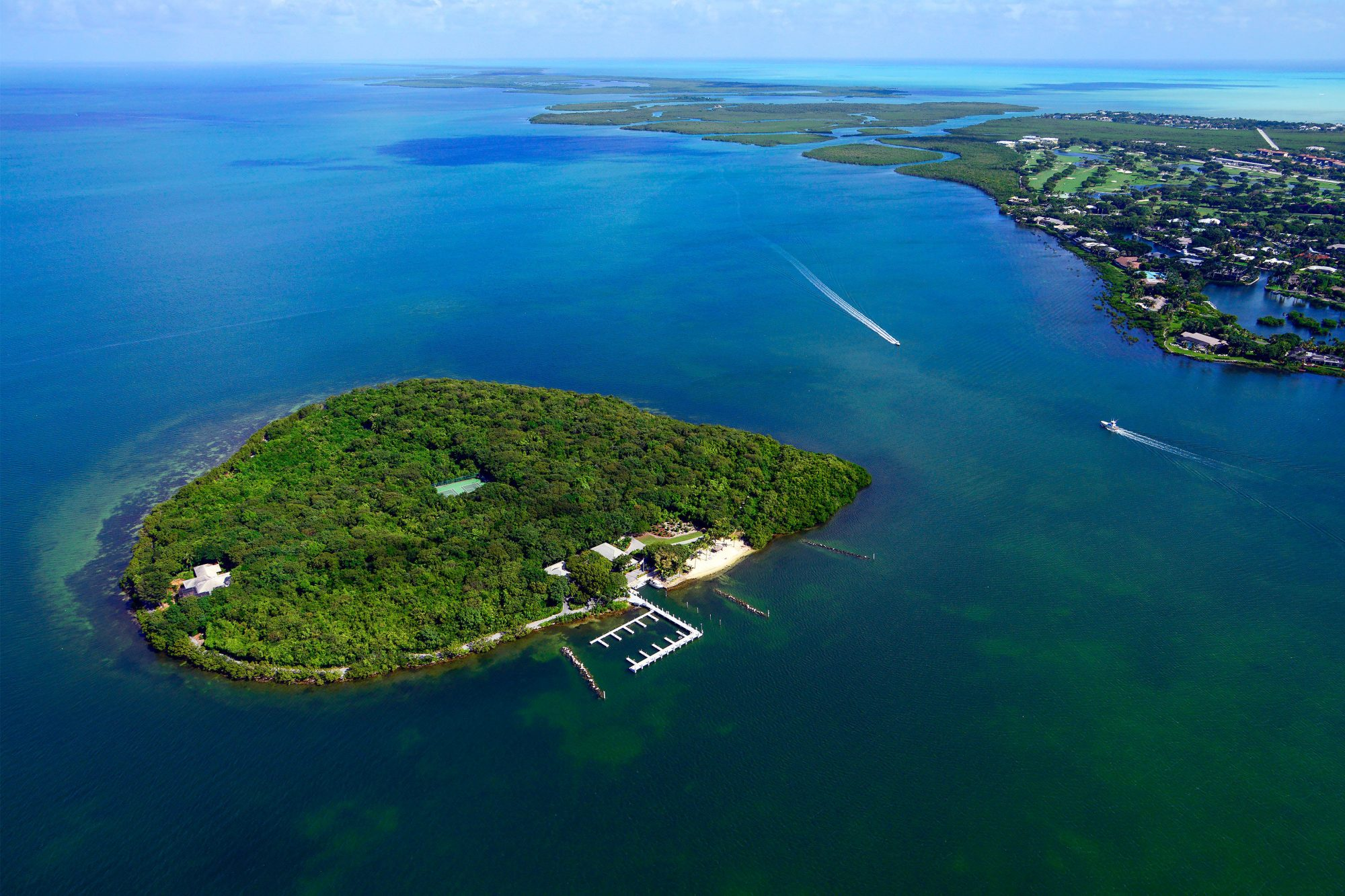 A private island in the Florida Keys is hard to come by; a private island you can make your own is even more rare. But Pumpkin Key is just that: a 26-acre island with one main home, two caretakers' cottages, and a dock master's apartment—leaving ...