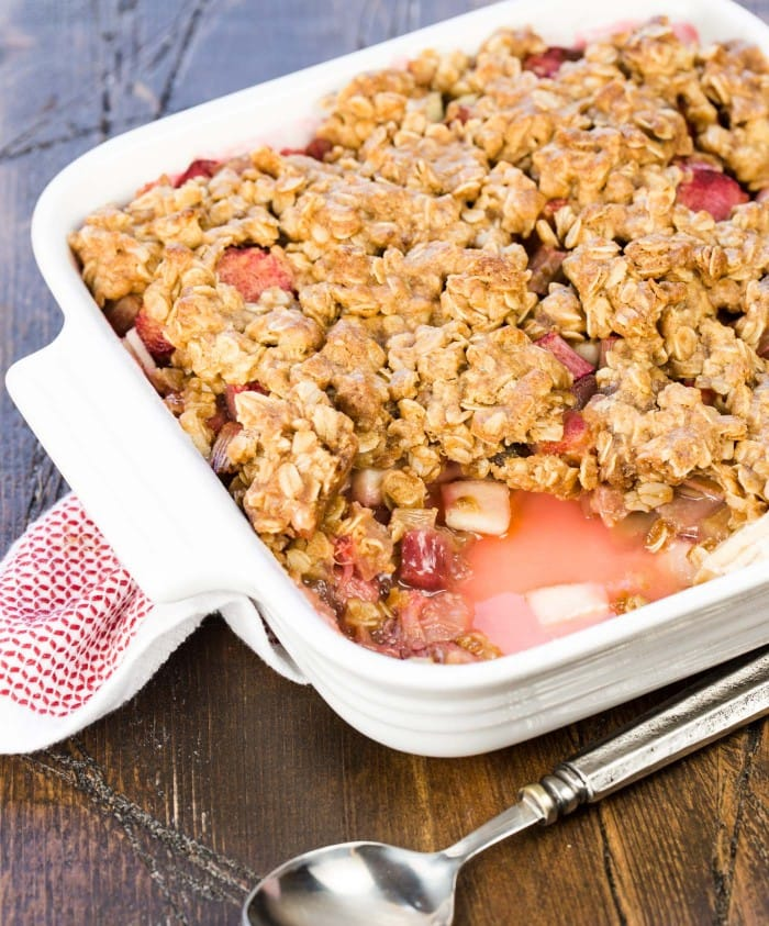 Rhubarb Apple Crisp