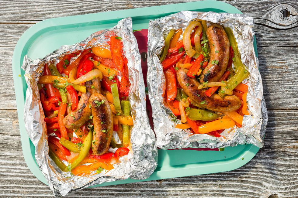 Sausage and Peppers Foil Pack