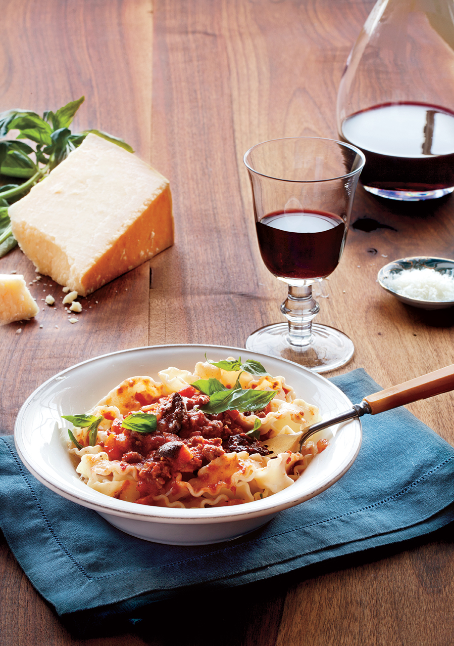 Slow-Simmered Meat Sauce with Pasta