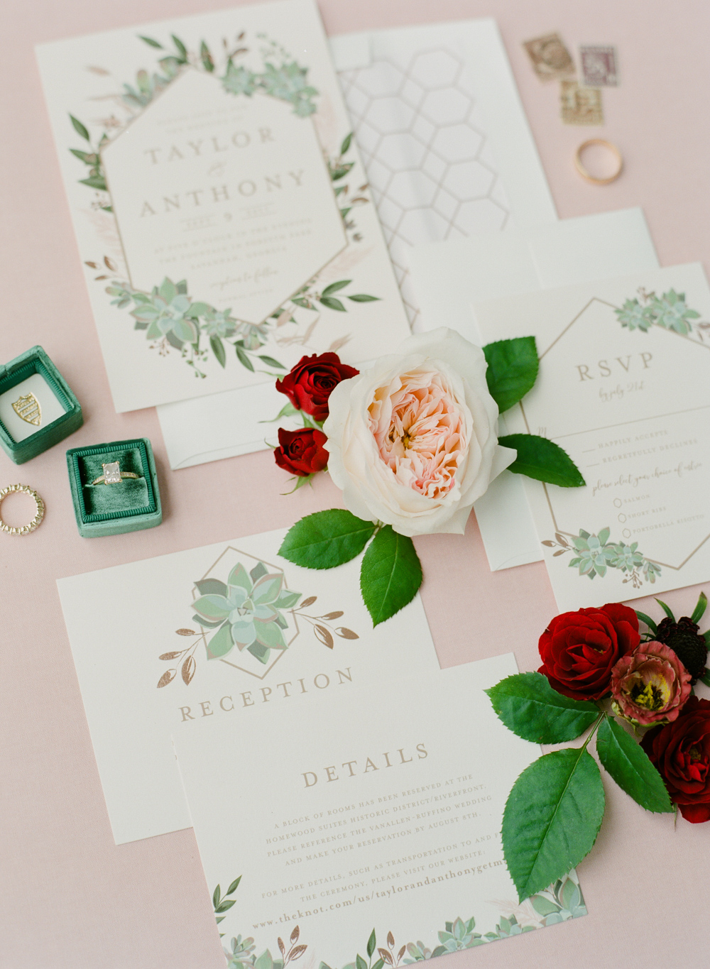Garden-Inspired Wedding Invitations