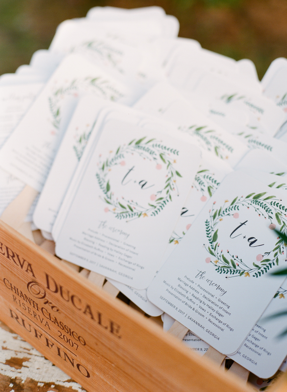 Wedding Ceremony Fan Programs
