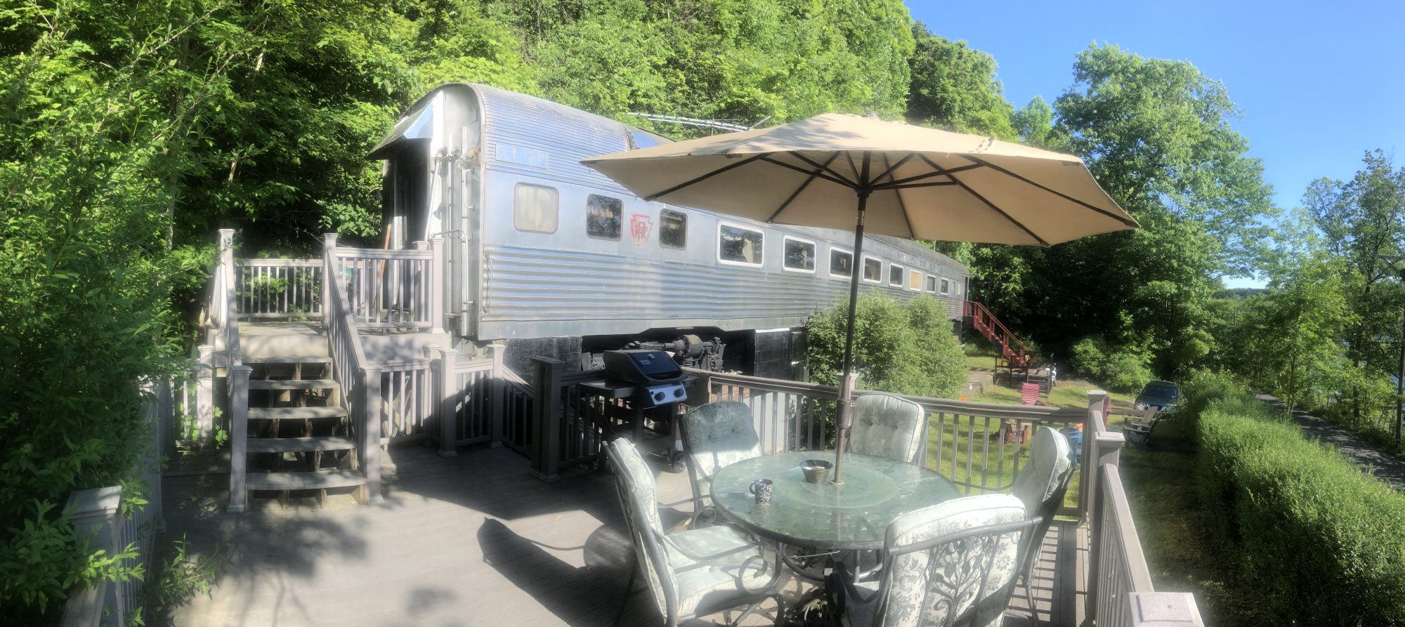 Rail Car on Skaneateles Lake in Homer, New York