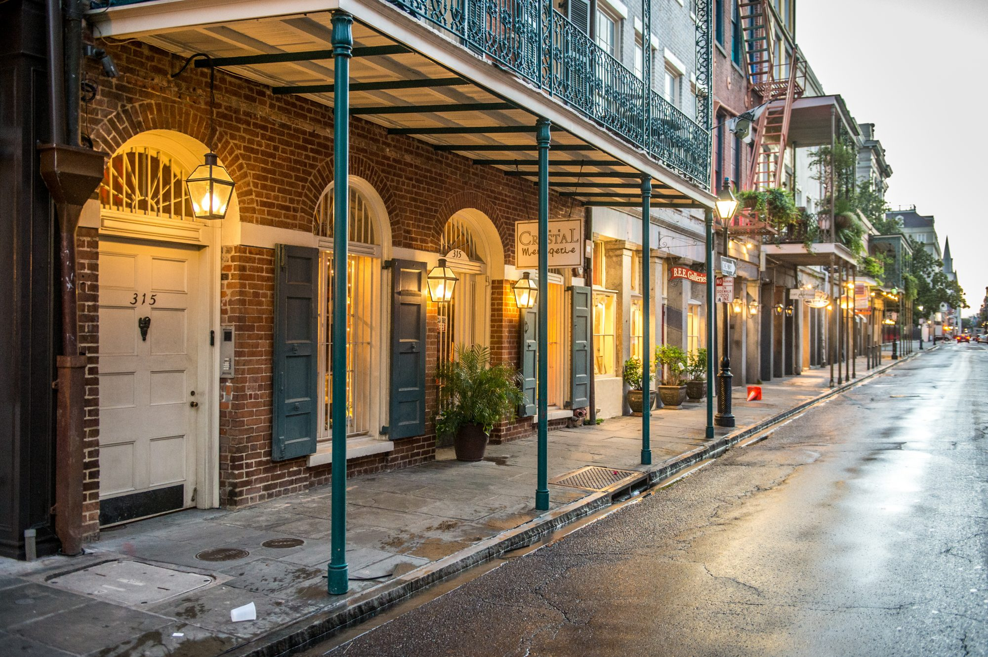 New Orleans Rainy Street
