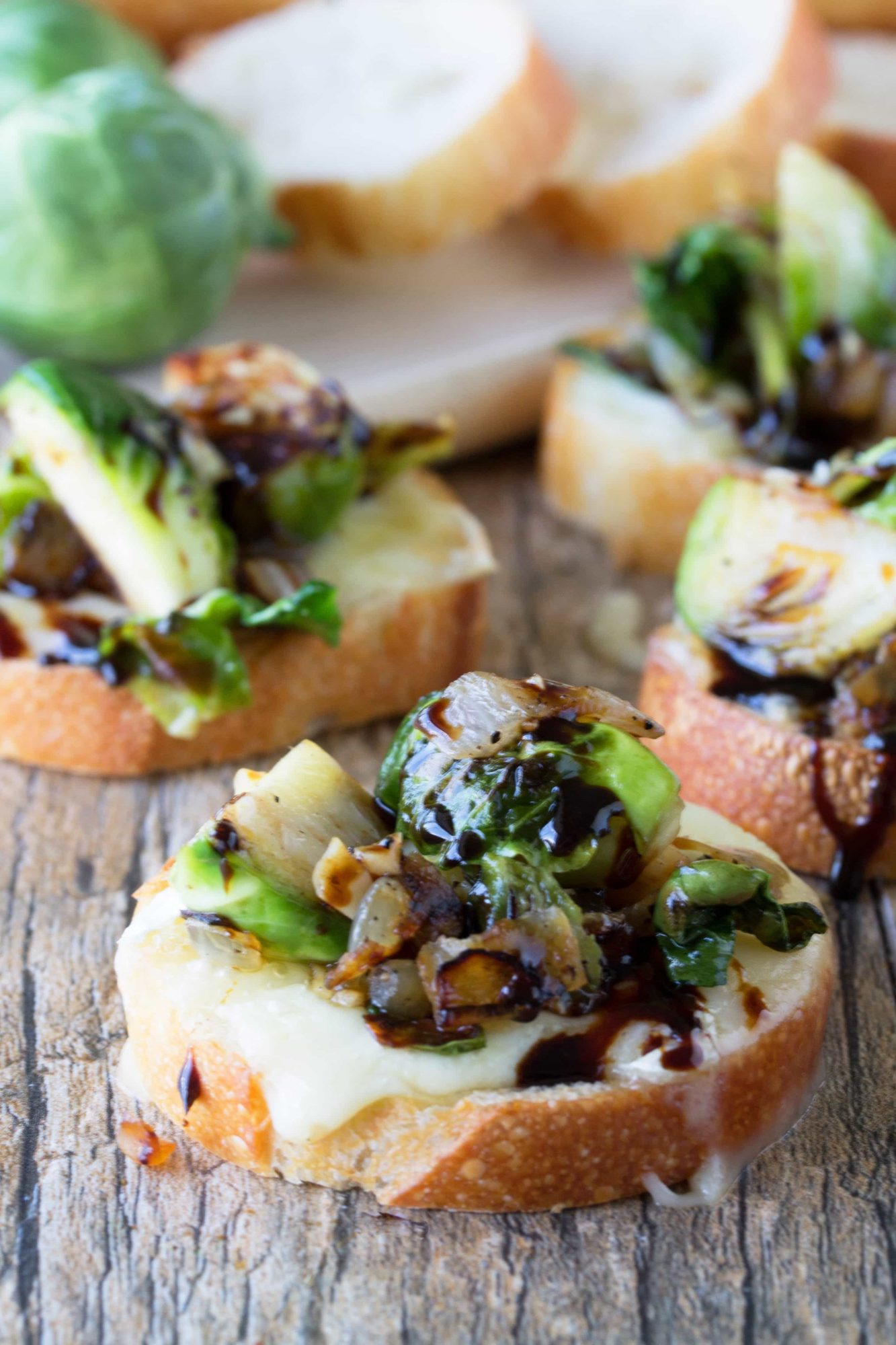 Brussels Sprouts and Brie Bruschetta