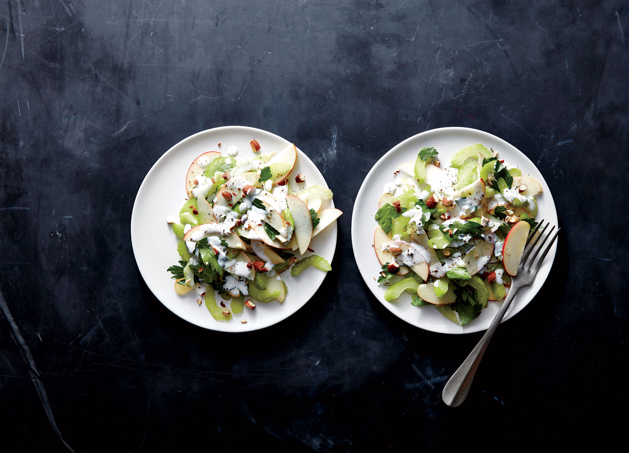 Celery, Apple, and Almond Salad