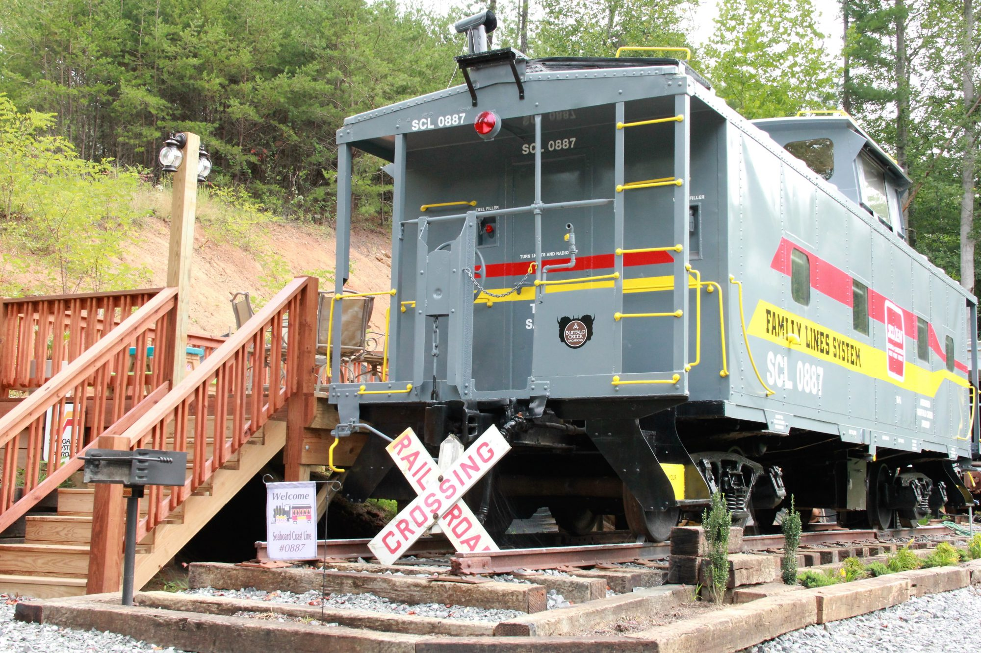 Seaboard Coast Line Caboose in Clyde, North Carolina