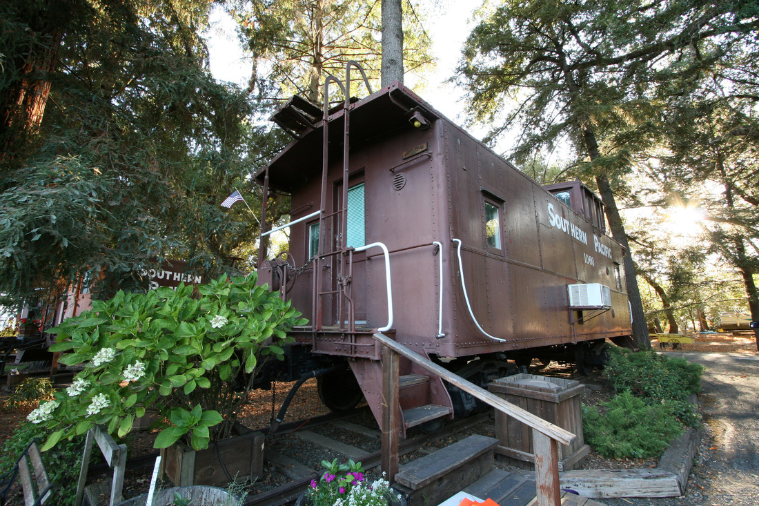 TropiCaboose at the Featherbed Railroad in Upper Lake, California