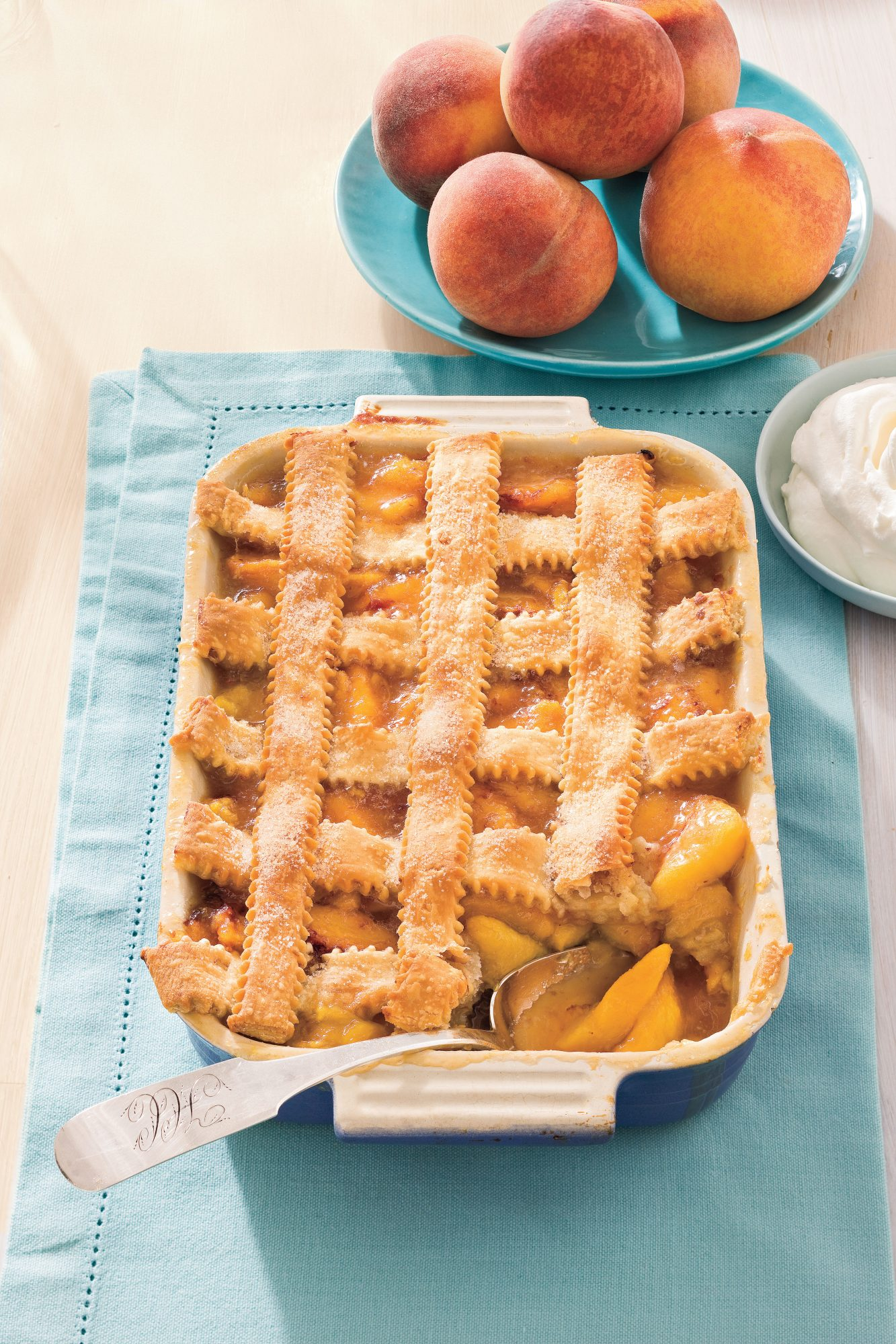 Southern Living Recipe: Pecan-Peach Cobbler