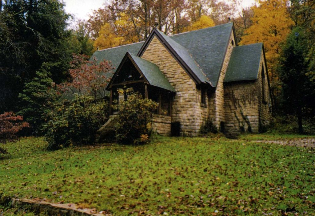 The Charlotte F. Hedges Memorial Chapel at the Pine Mountain Settlement School in Bledsoe, Kentucky
