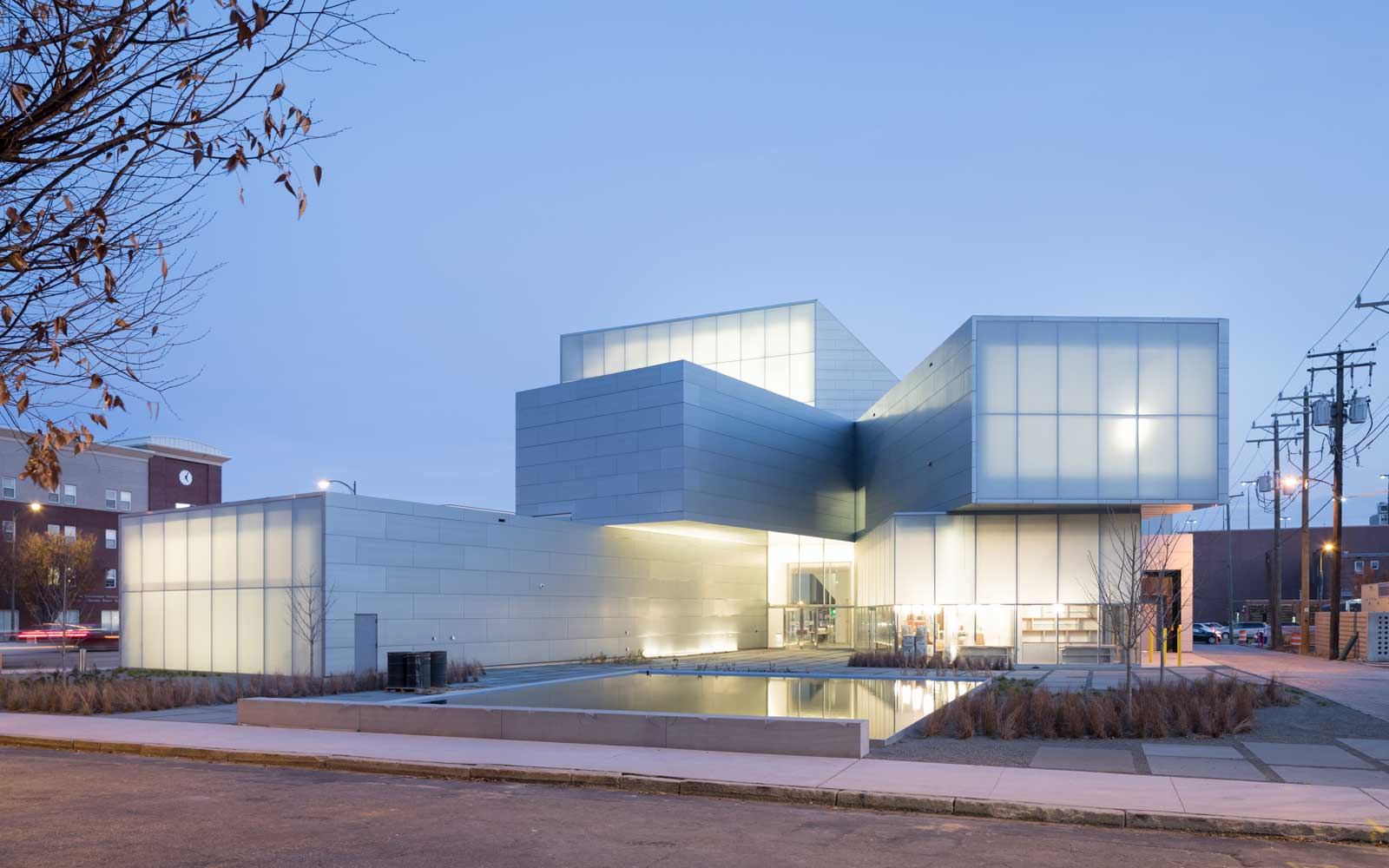 Exterior of the institute for Contemporary Art at the Virginia Commonwealth University