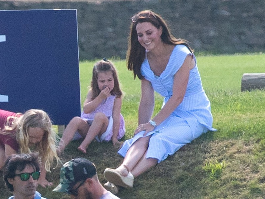 See Princess Charlotte and Prince George Adorably Cheer on Dad William at Polo! kate-middleton-c