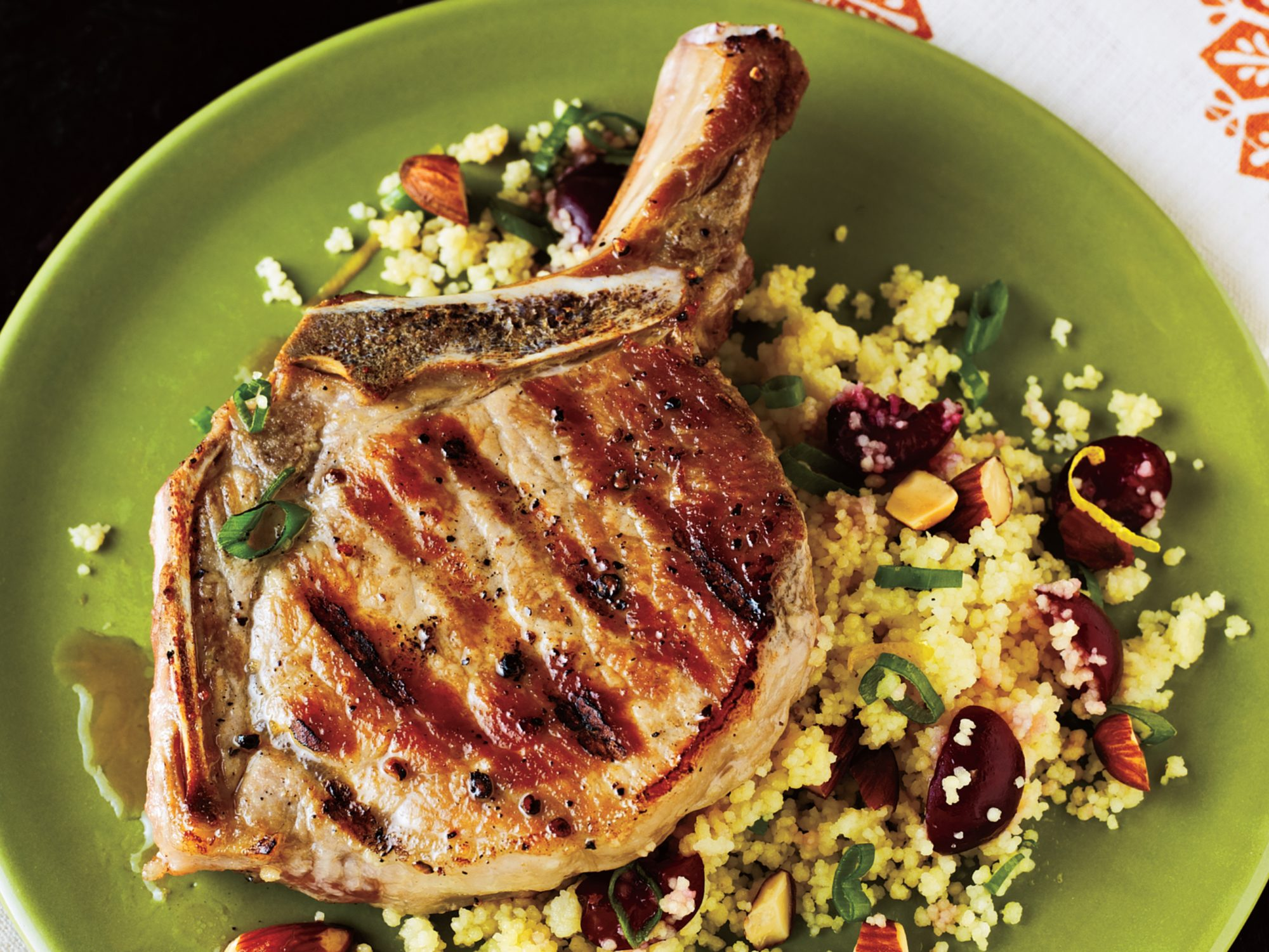 Pork Chops with Cherry Couscous