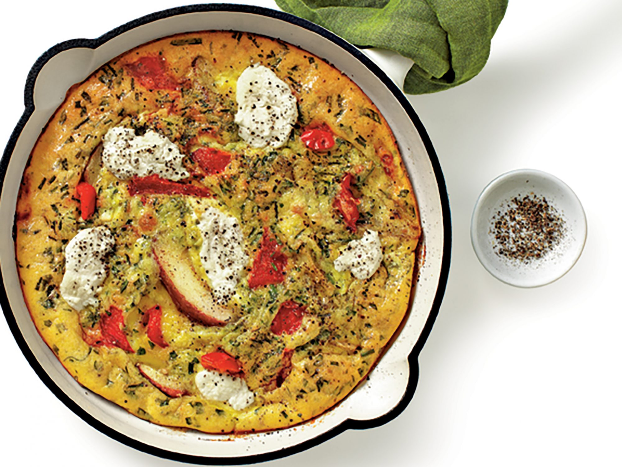 Asparagus, Nettle, and Green Garlic Frittata image