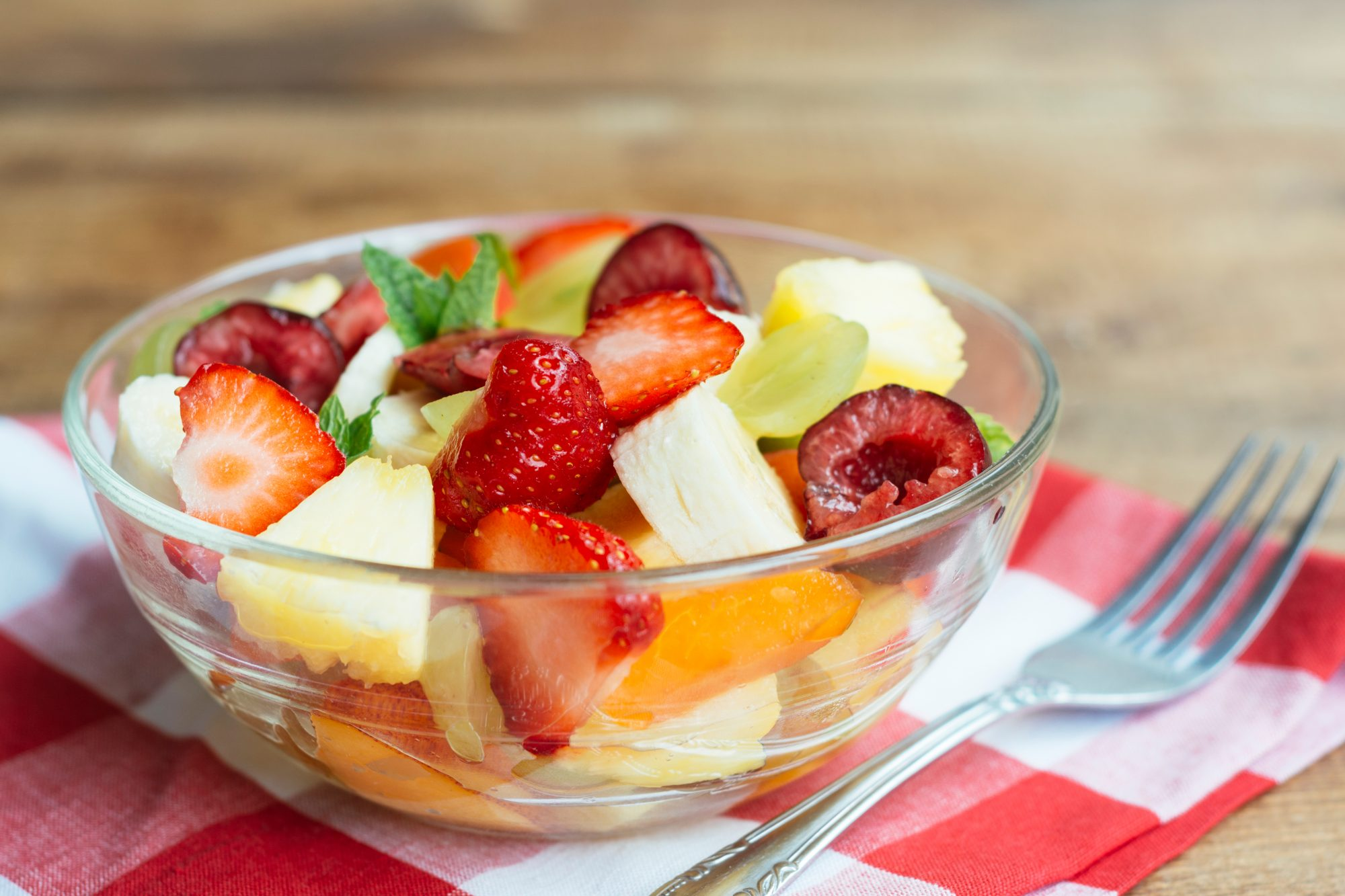 Close-Up Of Fruit Salad On Table