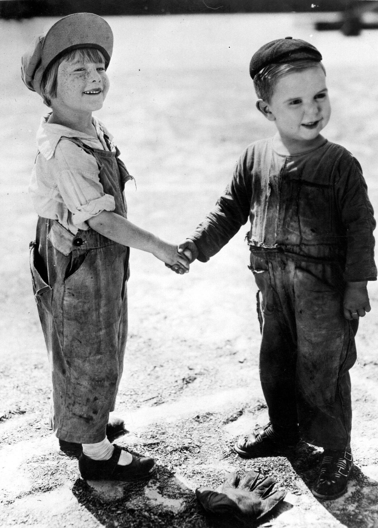 Young Boys Shaking Hands