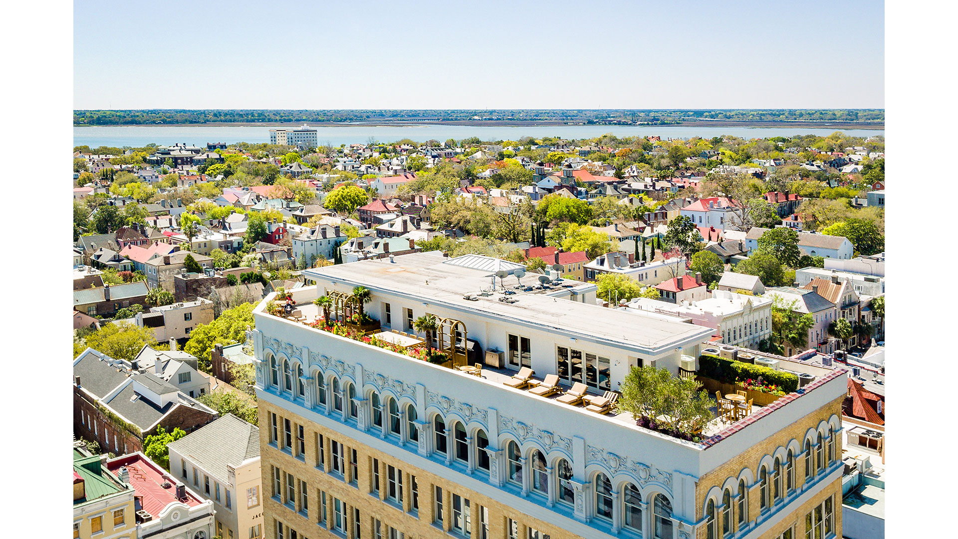 Charleston People's Building Penthouse Aerial