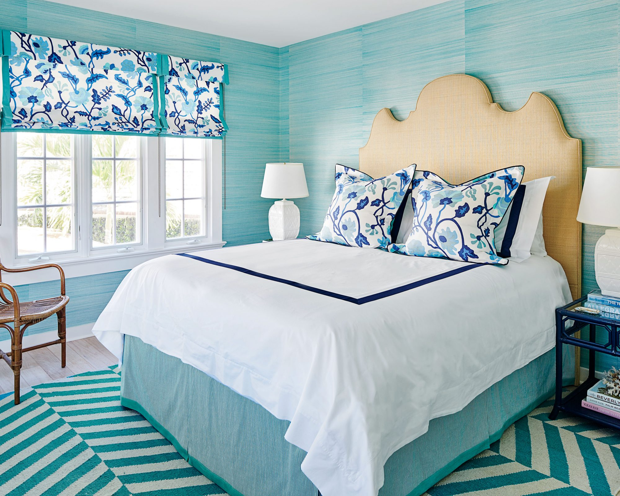 Lindsey Coral Harper Windsor, FL Makeover Guest Bedroom Teal