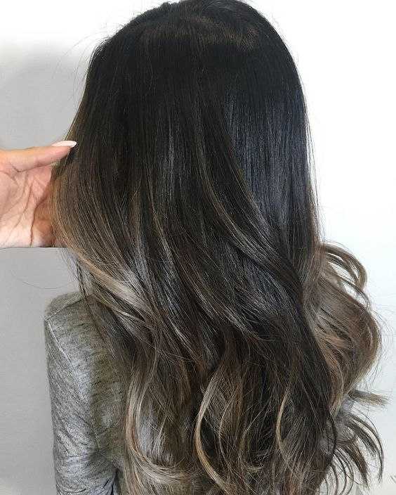 Charcoal Brunette with Silver Babylights