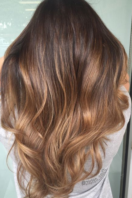 Chocolate Caramel Ombré