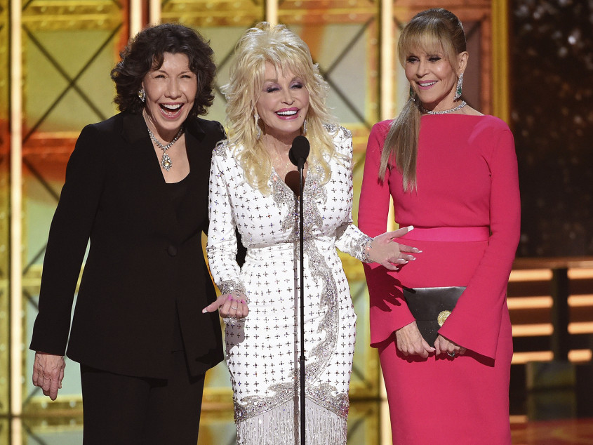 Jane Fonda Confirms 9 to 5 Sequel Is in the Works with Original Stars Dolly Parton and Lily Tomlin dolly-parton-lily-tomlin-jane-fonda