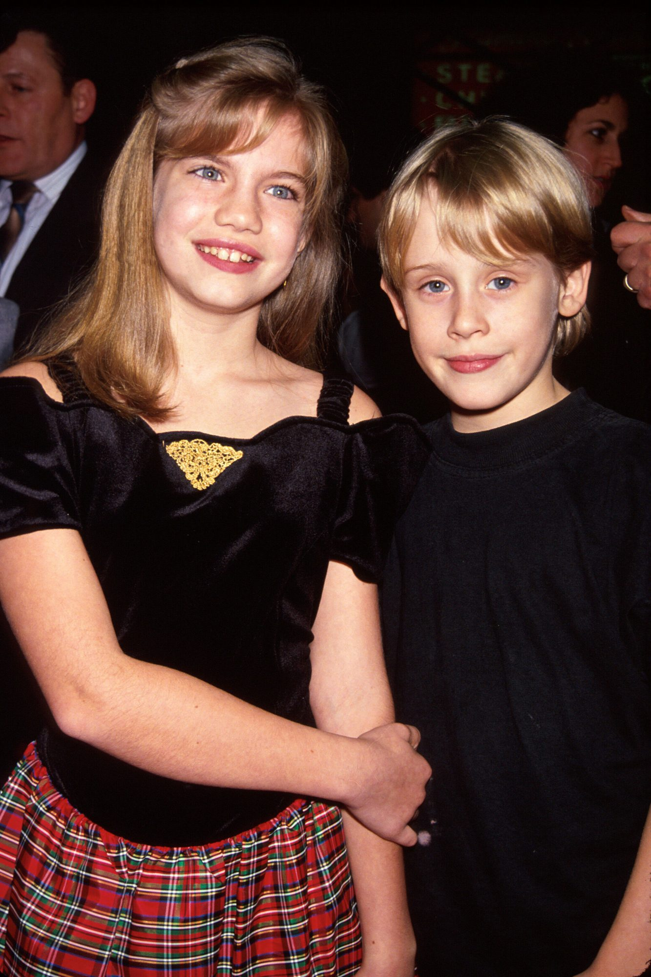 Anna Chlumsky and Macaulay Culkin My Girl Premiere