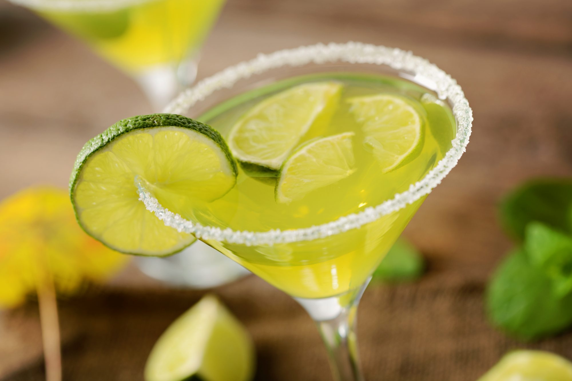 Margarita with Salted Rim