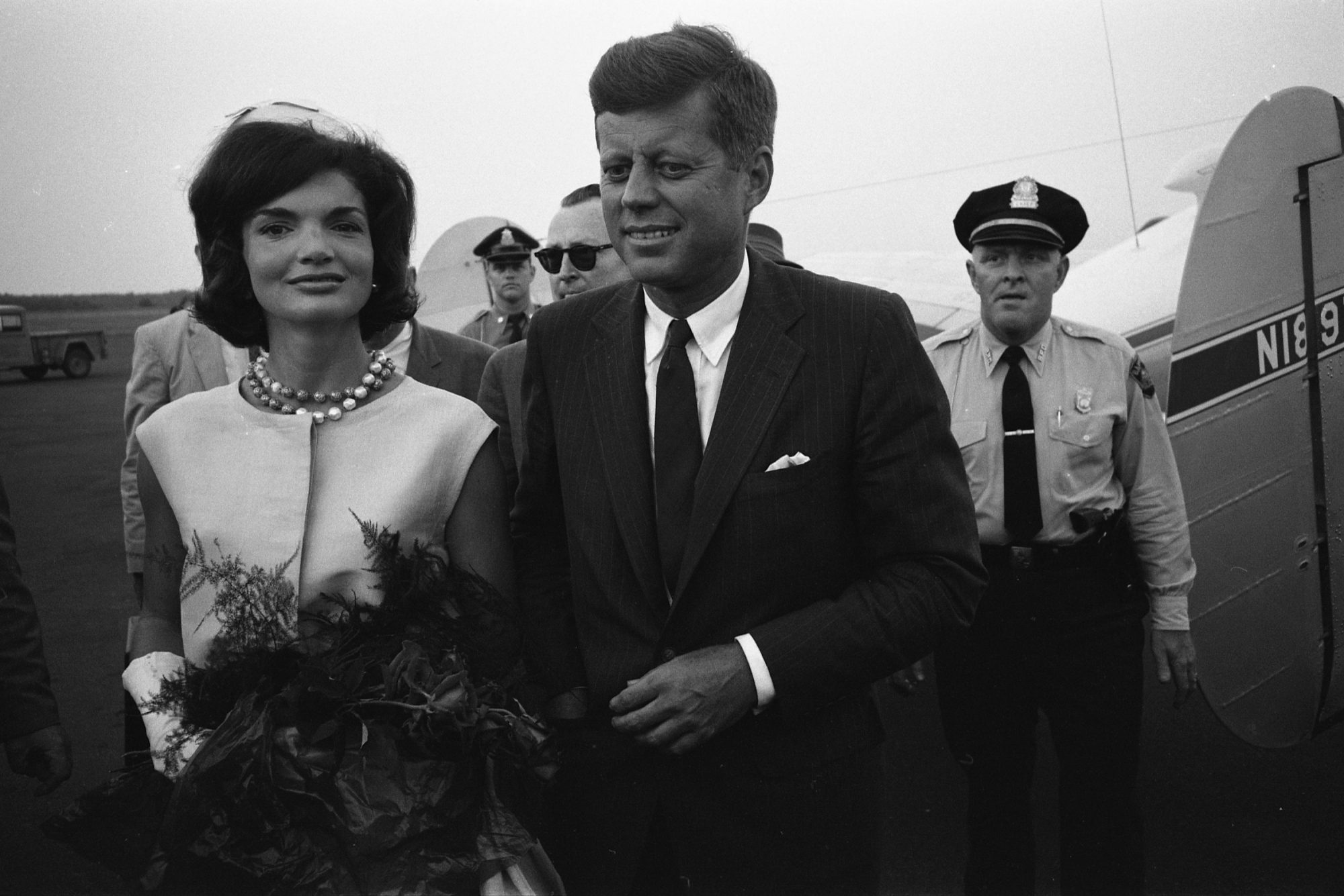 Jackie and John F. Kennedy in 1963